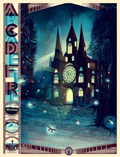 Arcade Fire poster #illustration