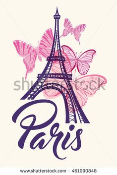 Buy Romantic Background with Eiffel Tower by Artness on GraphicRiver. Romantic background with Eiffel Tower and pink butterflies. Zip file contains fully editable vector file and hi. Eiffel Tower Painting, Eiffel Tower Art, Paris Images, Paris Pictures, Torre Eiffel Vector, The Chainsmokers Paris, Paris Kunst, Eiffel Tower Photography, Paris Room Decor