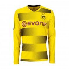 2017 Cheap Jersey Borussia Dortmund Home LS Replica Shirt [AFC226]