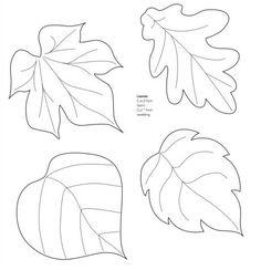 Moldes de hojas de arboles