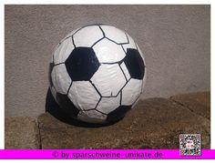 Spardose XXL  Fussball individuelle Gestaltung - Sparschwein Fussball Geburtstag