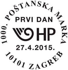 1000. kroatische Briefmarke Sonderstempel