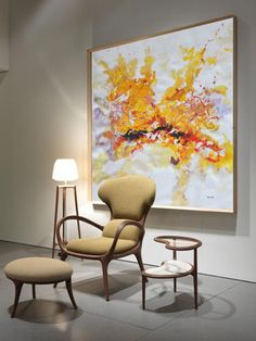 Hand painted contemporary art on canvas from CZ ART DESIGN for modern home and contemporary interiors. @CeilneZiangArt