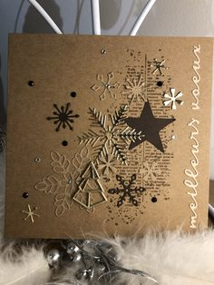 2019 Greeting Card – New Year Christmas Crafts For Kids, Christmas Greeting Cards, Christmas Greetings, Holiday Cards, Christmas Holidays, Holiday Planner, New Year Card, Diy Cards, Cardmaking