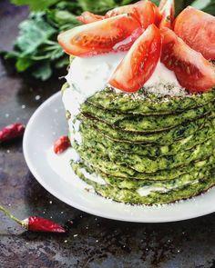 кабачково-шпинатные оладьи