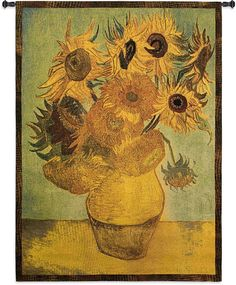 Sunflower Wall Tapestry Van Gogh
