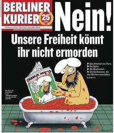 RT @BERLINER_KURIER: Unsere Titelseite von morgen. #JeSuisCharlie     @skynews #nonrassegna #CharlieHedbo