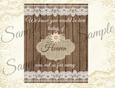 had this made for my wedding!! Instant Download Rustic Wedding Burlap and by MissBlissInvitations, $5.00
