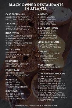 Looking for more ways to support the black community? Here are 49 best black owned restaurants in Atlanta GA // Local Adventurer #atlanta #discoveratl #blm #georgia #exploregeorgia #localadventurer