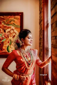 Diy Wedding, Wedding Day, Kerala Bride, Bridal Silk Saree, Gold Wedding Jewelry, Indian Bridal Fashion, Wedding Sarees, Bridal Hairstyle, Bridal Photography