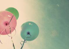 pink & blue balloons