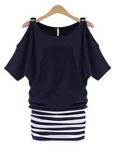 Fashion Patchwork Plus Size Mini Dresses