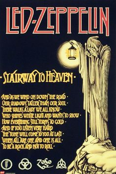 Led Zeppelin - Stairway to Heaven Guitar great Jimmy Page, singer Robert Plant. Music Love, Music Is Life, Good Music, Stairway To Heaven, Robert Plant, Blues Rock, Music Lyrics, Music Quotes, Music Music