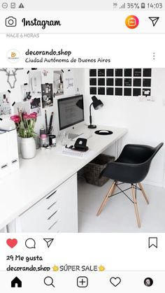 Design your home office space in a beautiful and feminine way even if you're decorating on a budget! These small office layout ideas and home office space ideas are gorgeous! See all Pictures of Small Home Office Space ideas for Women Home Office Space, Home Office Design, Home Office Decor, Office Ideas, Office Designs, Office Spaces, Desk Space, Workspace Design, Office Inspo