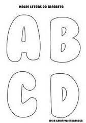 Resultado de imagem para molde de letras individuais para imprimir gratis