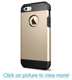 Spigen iPhone 5S Case Tough Armor Case for iPhone 5/5S - Retail Packaging - Champagne Gold