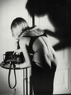 Helmut Newton Iconic.  Panty-of-the-month gifts at http://theenclosed.com/