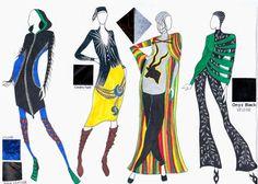 Fashion sketches bt Fatima of Muslim Apparel