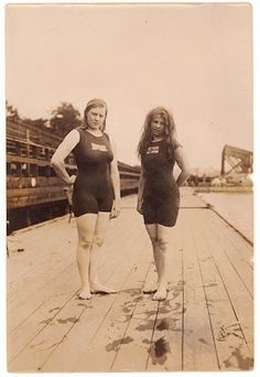 Australia's first women Olympians, Fanny Durack and Mina Wylie, 1912 (winners of gold and silver in the 100 metres freestyle, Stockholm, 1912)