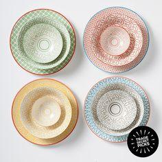 Pretty patterned plates & bowls | Trade Secret