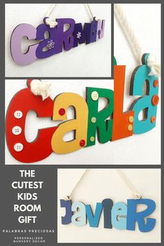 Finding the perfect décor that conveys the love and emotion surrounding your little one is not easy. Chat with me today to create the unique design for your room name sign that reflects their bedroom style and personality. Let's turn your vision into beautiful wall name letters that will have everyone commenting and be the envy of their friends. #kidsroom #nursery #toddlerroomdecor