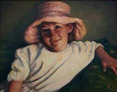 ANNA'S SMILE 2 by Mollie Erkenbrack Oil ~ 16 x 20