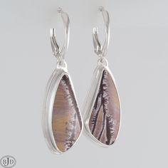Jasper, Burgundy, Etsy Shop, Drop Earrings, Gemstones, Sterling Silver, Jewelry, Jewlery, Gems