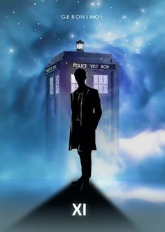 Doctor with Tardis poster by from collection. By buying 1 Displate, you plant 1 tree. Décimo Doctor, Doctor Who Clara, Matt Smith Doctor Who, Doctor Who Funny, David Tennant Doctor Who, Doctor Who Tardis, Eleventh Doctor, Doctor Who Tumblr, Doctor Who Fan Art