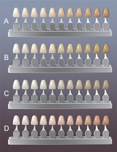How Do I Know what Shade My Teeth are? There's no one standard system in the dental field to measure and determine tooth color. Nor is there an exact answer to how white your teeth can become-every person's situation is unique. One commonly used reference tool, however, is a shade guide.