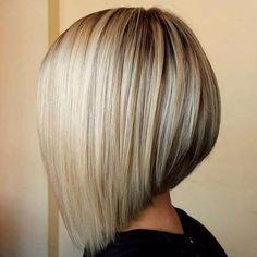 blonde angled bob haircut
