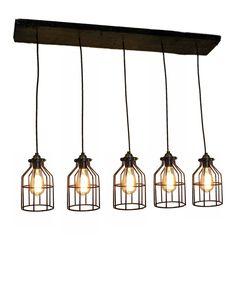 5 Cage Pendant Reclaimed Wood Chandelier Pendant light Urban Chandelier Rustic lighting Modern Dining chandelier wedding Edison Bulb Ceiling by HangoutLighting on Etsy https://www.etsy.com/listing/192210792/5-cage-pendant-reclaimed-wood-chandelier