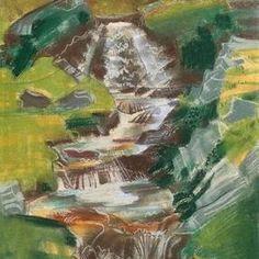 August Babberger - Bergbach (Balmalp am Klausenpass) , um 1930 Painting, Art, Switzerland, Painting Art, Kunst, Art Background, Paintings, Performing Arts, Painted Canvas