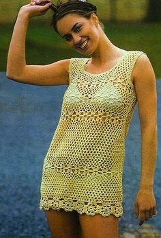 Salida de baño tejida a crochet