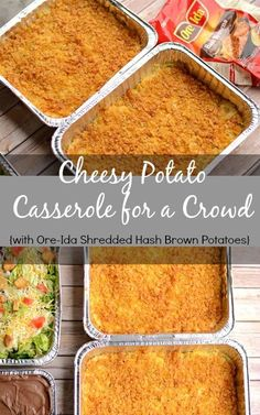 Cheesy Potato Casserole with Ore-Ida Shredded Hash Brown Potatoes - Once a Month Cooking- Cheesy Potato Casserole with Ore-Ida Shredded Hash Brown Potatoes Cheesy Potato Casserole for a Crowd Cooking For A Crowd, Food For A Crowd, Cheesy Hashbrown Casserole, Planning Budget, Meal Planning, Food Budget, Potluck Dishes, Potluck Meals, Potluck Recipes