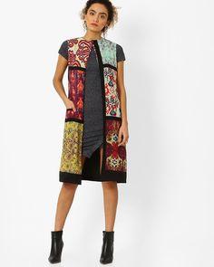 Buy Multicoloured Juniper Ikat Print Shrug | AJIO