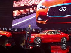 Carlos Ghosn unveils the Infiniti at the Detroit auto show on Monday, Jan. Detroit Auto Show, Jan 11