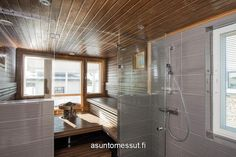 8 Joutsenlampi - Pesuhuone ja sauna | Asuntomessut