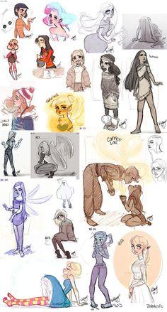 A Bunch of Sketches by *Britt315 on deviantART