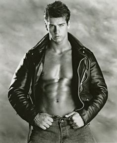 Black and White Men In Leather Biker Leather, Leather Men, Shirtless Hunks, Leather Jackets For Sale, Hommes Sexy, Black And White Man, Hairy Men, Muscle Men, Vintage Men