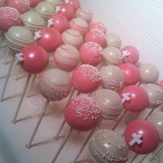 Baptism Cake Pops #cakepops #baptismcakepops #divasdelights