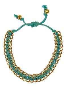 Metal Woven Diamanté Friendship Bracelet   M&S.com