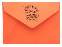 Personalized State Return Address Stamp on BourbonandBoots.com   Ga and Tn available. $30-$40 love this!