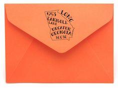Personalized State Return Address Stamp on BourbonandBoots.com