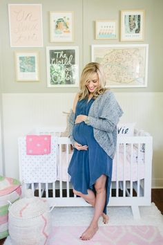 I like the maternity pic in the baby's nursery!