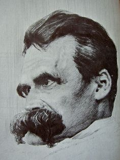 Friedrich Nietzsche by Hans Olde {what a mustache!}