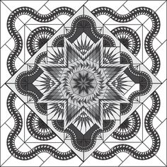 Canton Village Quilt Works: Shop | Category: All Patterns | Product: Glacier Star Technique of the Month Extra Borders Queen Size