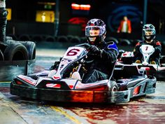 Plan an adrenaline fueled London stag do by booking an  indoor go karting experience