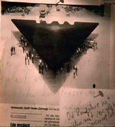 Aerial Photo of a Top Secret Nazi plane in 1945.....Looks like a Stealth Bomber Huh.