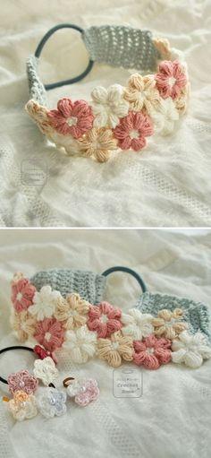 Baby Afghan Crochet Patterns, Crochet Headband Pattern, Crochet Baby Hats, Crochet Gifts, Crochet For Kids, Baby Headband Crochet, Crochet Bows Free Pattern, Easy Crochet Headbands, Lace Headbands