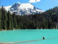 Joffre Lakes Provincial Park, in Canada near Vancouver n the British Columbia ♥ the blueish green of the water is FOR REAL! && you can camp out right beside the Lake :-) AWESOME FAMILY VACATION! ♥